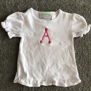 Lolly Wolly Doodle Girls Monogrammed Top